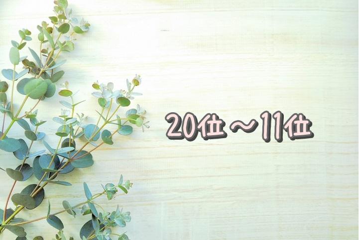 20位~11位