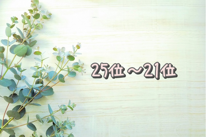 25位~21位